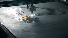 Industrial Laser cutting processing manufacture stock video footage
