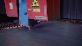 Industrial Laser Machine at Work stock video