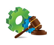Industrial law concept illustration design Stock Image