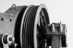 Industrial lift pully B&W - DSC01838-4 Royalty Free Stock Photos