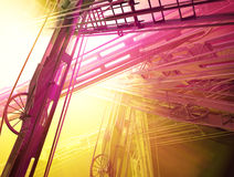 Industrial Lights. Abstract 3d industrial construction light spectrum illustration background Stock Photography