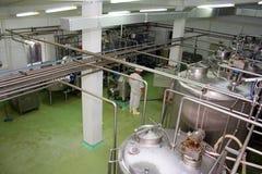 Industrial liquid storage tanks Stock Image