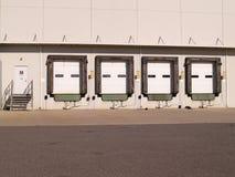 Industrial loading docks stock photo