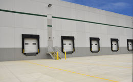 Industrial loading docks. For a large warehouse Stock Photos