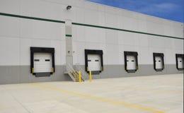 Industrial loading docks stock photos