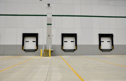 Industrial loading docks. For a large warehouse Royalty Free Stock Photos