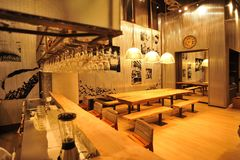 Industrial loft bar style. The interior industrial loft bar style Stock Images