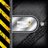 Industrial login interface with tire tracks Royalty Free Stock Photography