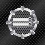 Industrial login screen with metallic ring Stock Image
