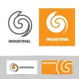Industrial logo design concept Stock Photo