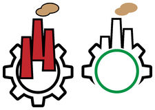 Industrial logo set Stock Photo