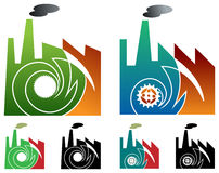 Industrial logo set Royalty Free Stock Photo