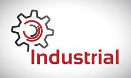 Industrial - logotipo Imagens de Stock