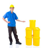 Industrial Lubricant oils and greases Stock Images