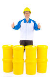 Industrial Lubricant oils and greases Stock Image