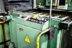 Industrial machine. Industrial oven used for chemical treatment of metal Royalty Free Stock Photography