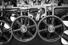 Industrial machine cogs. Industrial machine cogs in black and white Royalty Free Stock Photography
