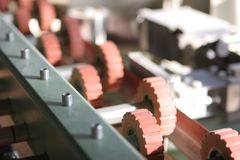 Industrial machine - detail Royalty Free Stock Photo