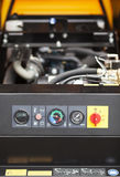 Industrial machine engine dashboard detail Royalty Free Stock Photography