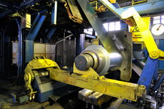 Industrial machine in factory Royalty Free Stock Photos
