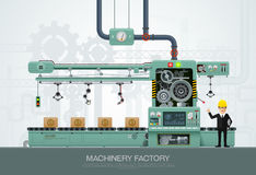 Industrial machine Factory construction equipment engineering vector illustration stock illustration