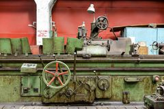 Industrial machine  in the factory Stock Images