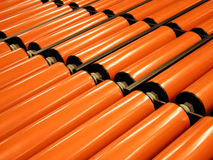 Industrial machine guide rollers Royalty Free Stock Photos