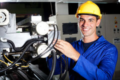 Industrial machine operator royalty free stock photography