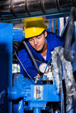 Industrial machine operator Royalty Free Stock Photo
