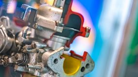 Industrial Machine Parts For Manufacturing Line stock photos
