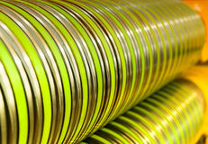 Industrial machine for steel coils cut Stock Images