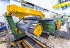 Industrial machine for steel coils cut Royalty Free Stock Photography