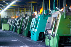 Industrial machines. Robotic machines in a factory stock image