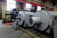 Industrial machines in a factory Royalty Free Stock Photography