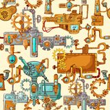 Industrial Machines Seamless Stock Images