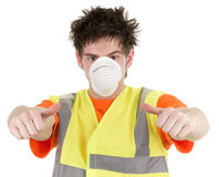 Industrial man with a mask Stock Photo