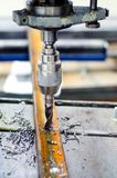 Industrial manual drilling machinery Stock Photo