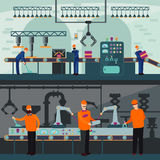 Industrial Manufacturing Plant Horizontal Banners Royalty Free Stock Photo