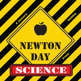 Industrial mark Newton Day. Industrial mark the holiday in the science of Newton`s Day vector illustration