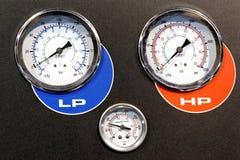 Industrial measurement device closeup Stock Photos