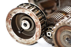 Industrial mechanical gears. Picture representing industry stock images