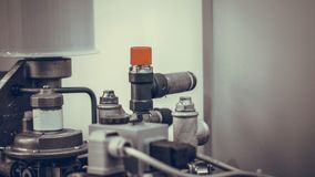 Industrial Mechanical Manufacturing Line System royalty free stock photography