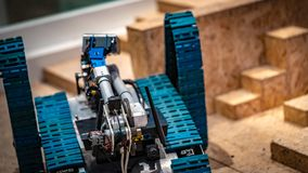 Industrial Mechanical Robot Car Technology royalty free stock images