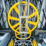 Industrial mechanism gears Stock Photos