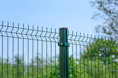 Industrial mesh fence Stock Images