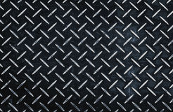 Industrial metal black. With rhombus shapes pattern background Royalty Free Stock Images