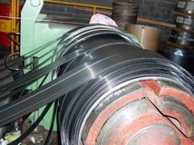 Industrial metal coils machinery plant.  Royalty Free Stock Photos