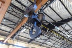 Industrial Metal Crane Winch Hook Equipment stock photo