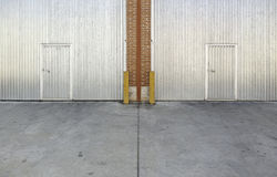 Industrial metal door Stock Image