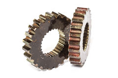 Industrial metal gears Stock Images